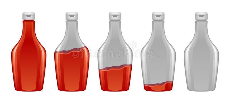Sauce dans la bouteille illustration de vecteur