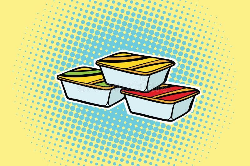Sauce de emballage à aliments de préparation rapide illustration stock