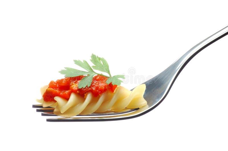 Sauce de pâte et tomate photographie stock