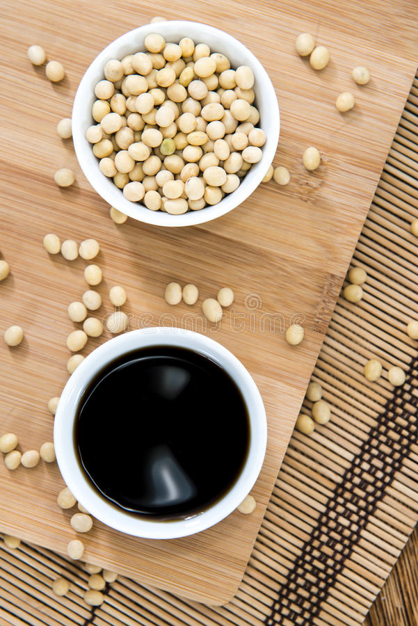 Sauce de soja photos stock