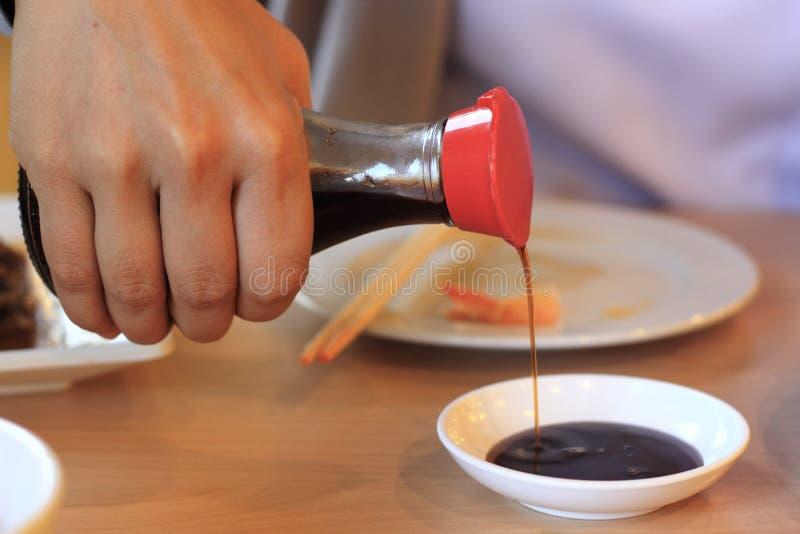 Sauce de soja de Riense image stock