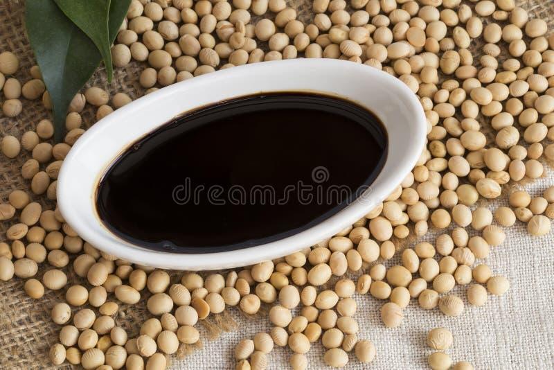 Sauce de soja photographie stock libre de droits