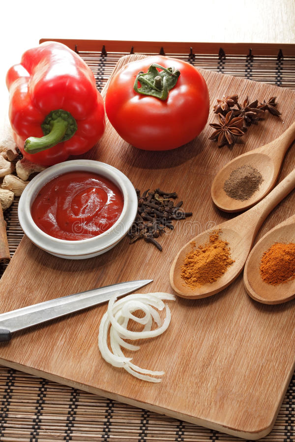 Download Sauce ingredient stock image. Image of above, meal, objects - 24889299