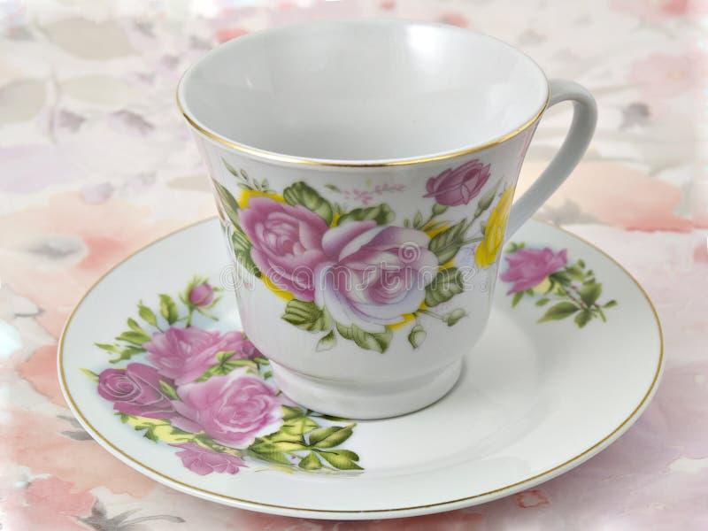 saucer för kaffekopp royaltyfria bilder