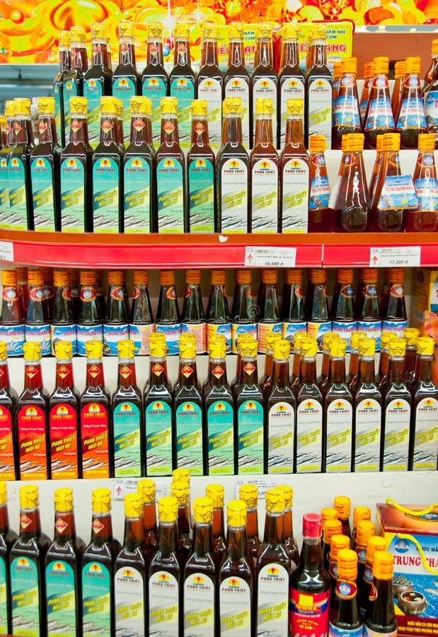 Sauces à poissons photo libre de droits
