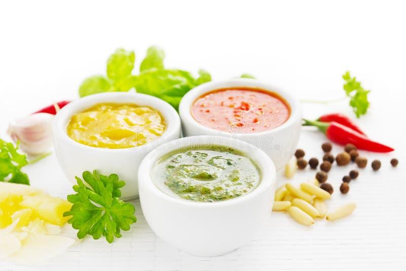 Sauces épicées photographie stock libre de droits