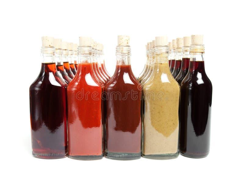 Sauces chaudes à BBQ images libres de droits