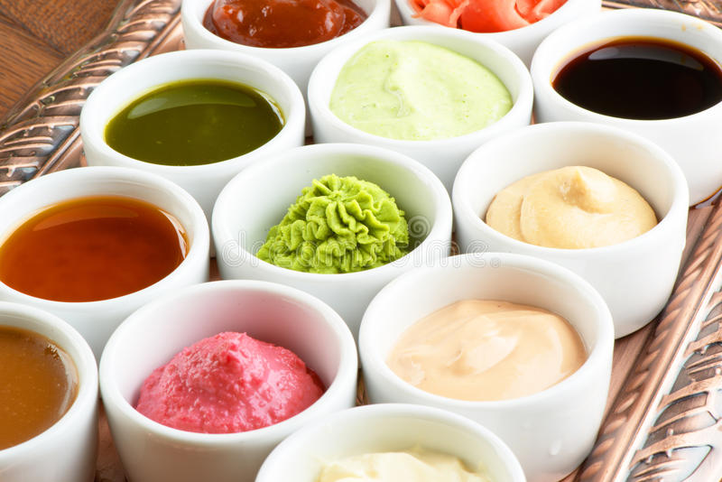 Sauces collection stock photography