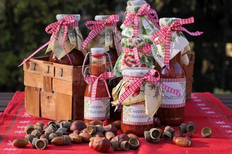 Sauces faites maison photographie stock