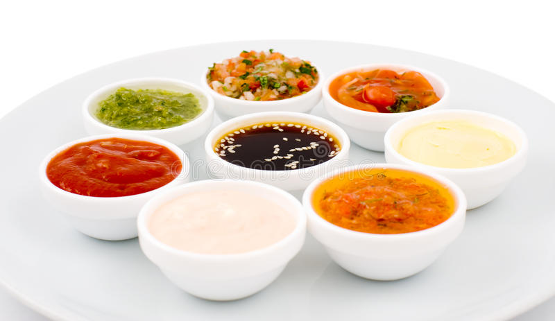 Sauces palette royalty free stock photos
