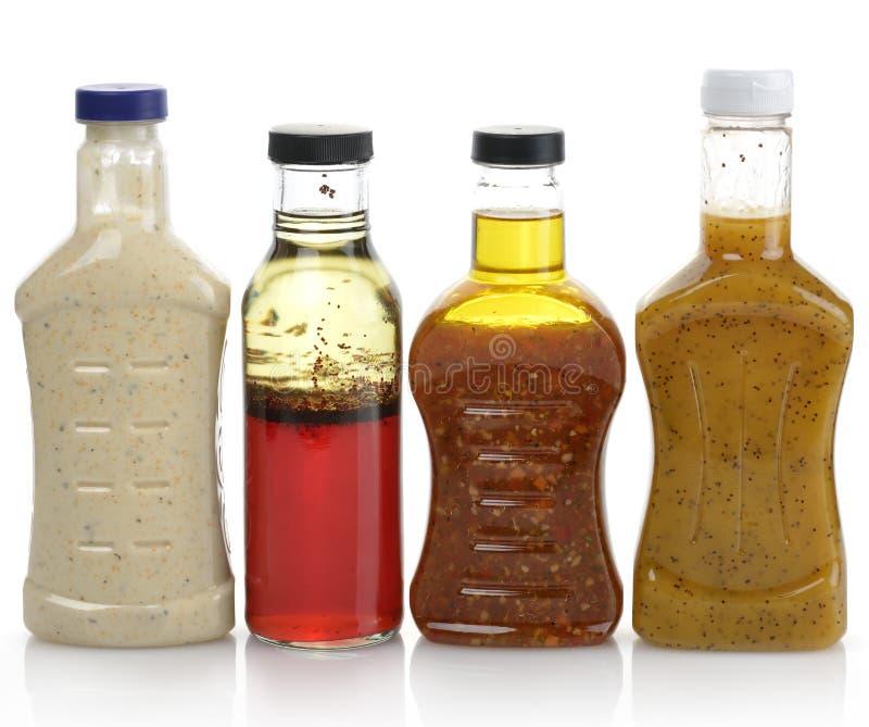 Sauces salade photo libre de droits
