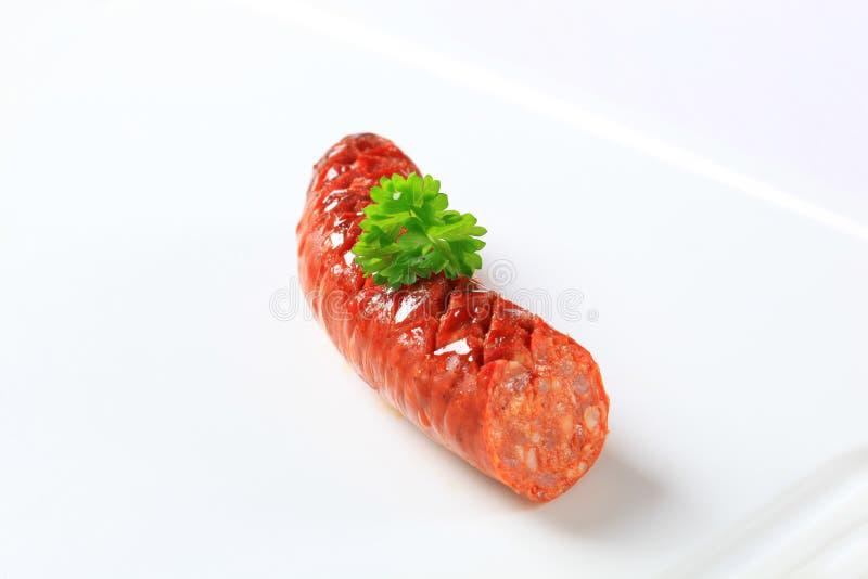 Saucisse épicée rôtie photo stock