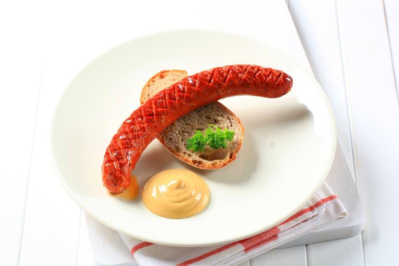 Saucisse épicée sèche image stock
