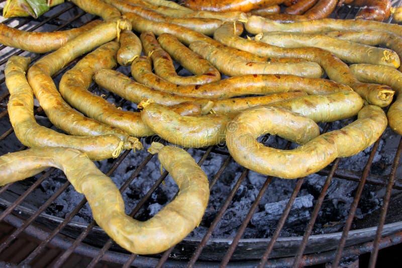 Saucisse épicée thaïlandaise du nord photographie stock