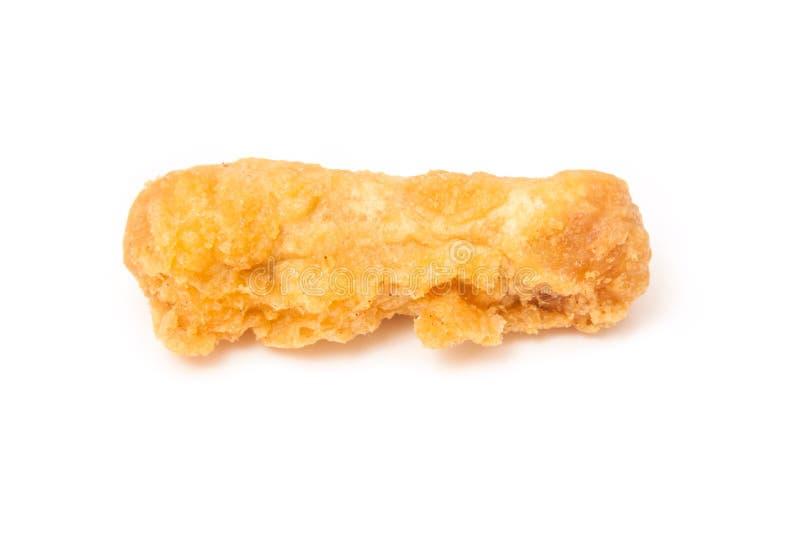 Saucisse cuite à la friteuse photographie stock