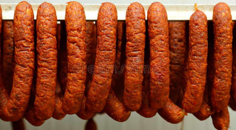 Saucisse traditionnelle image stock