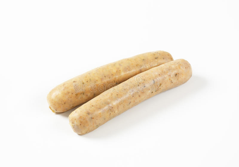 Saucisses blanches image stock