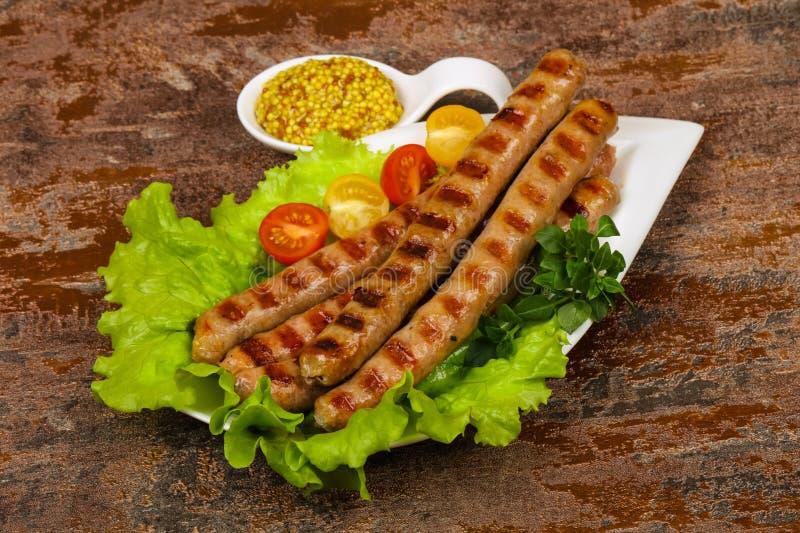Saucisses de proc grill?es photo libre de droits