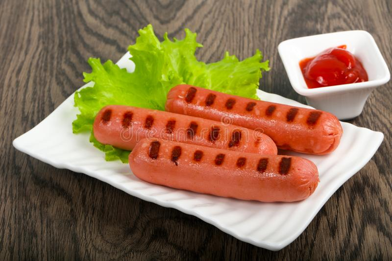 Saucisses grill?es image stock