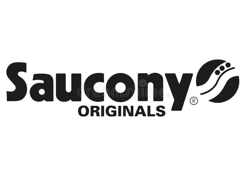 Saucony商标 皇族释放例证