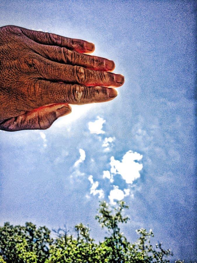 Saudação de Sun! imagem de stock