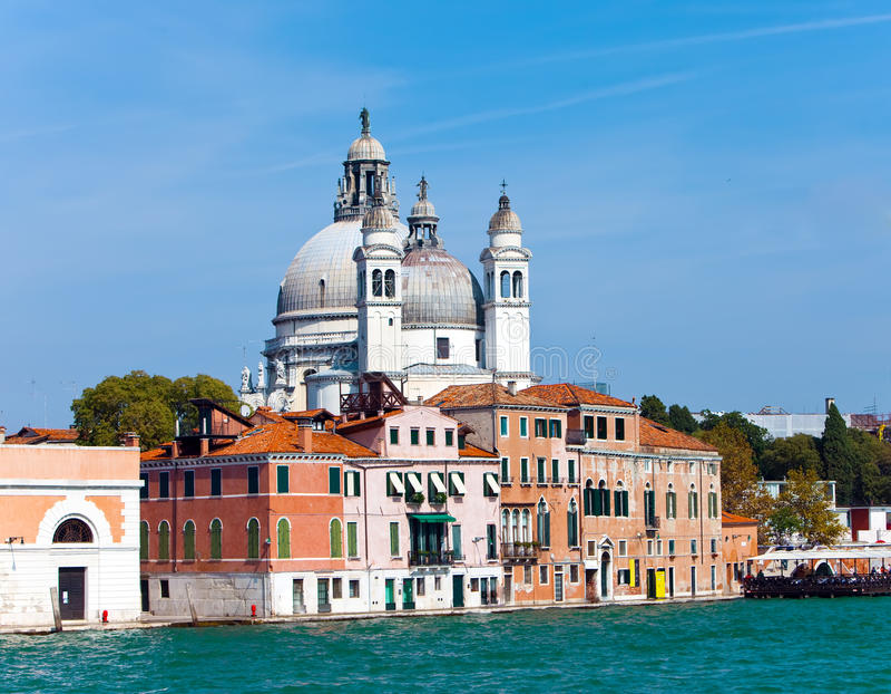 Saudação do della de Santa Maria da basílica, Veneza, Italia fotografia de stock royalty free