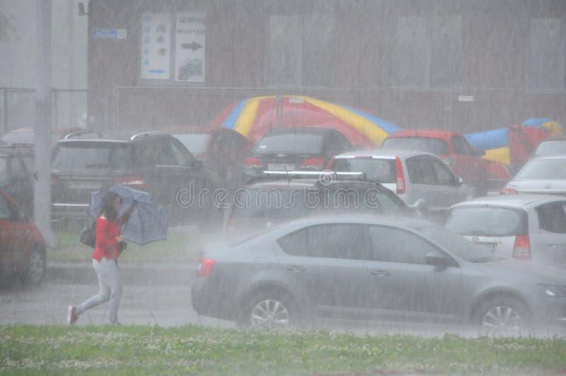 Saudação em Korolev fotos de stock