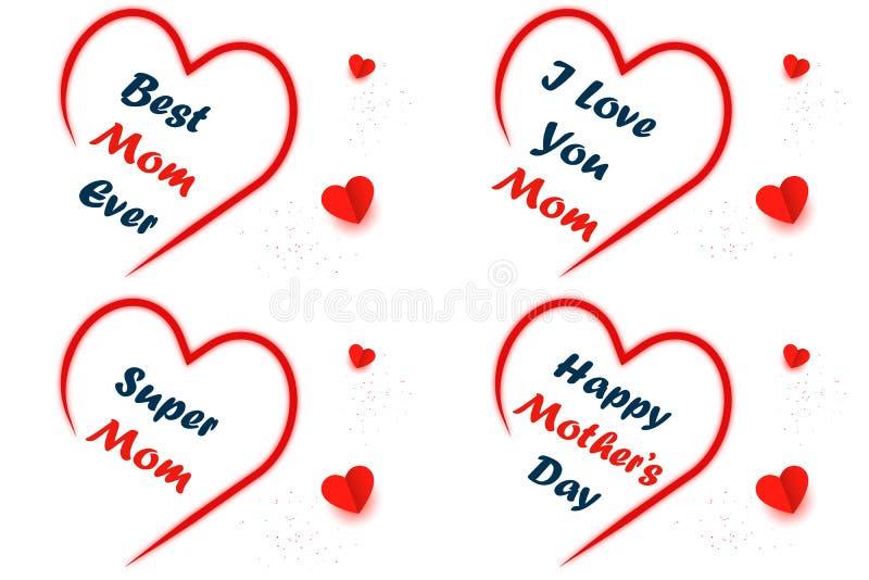 Saudações para celebrar o dia da mãe imagem de stock
