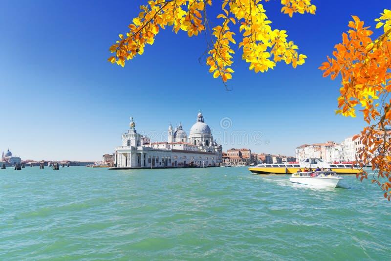 Sauda??o do della de Santa Maria da bas?lica, Veneza, Italia imagens de stock royalty free