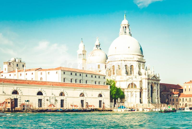 Sauda??o do della de Santa Maria da bas?lica, Veneza, Italia imagem de stock
