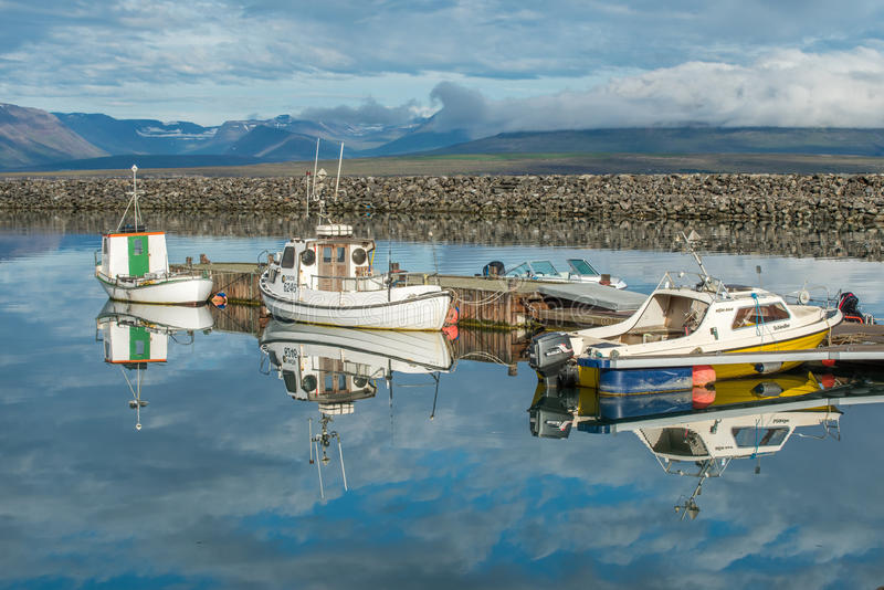 Saudarkrokur, Islândia foto de stock royalty free