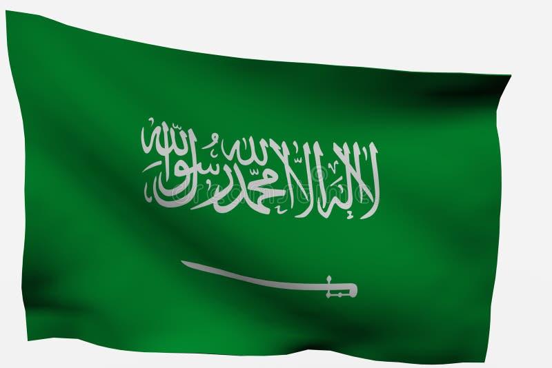 Download Saudi Arabia 3D flag stock illustration. Image of nation - 7722540