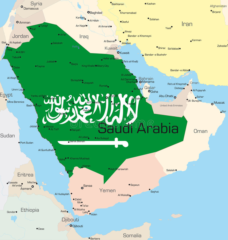 Saudi Arabia stock illustrationer