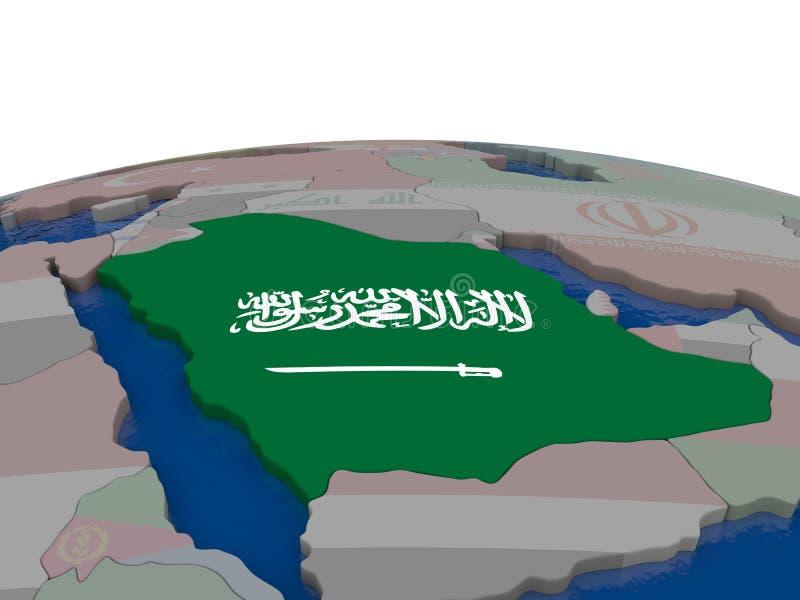 Download Saudi Arabia With Flag Stock Illustration - Image: 83716232