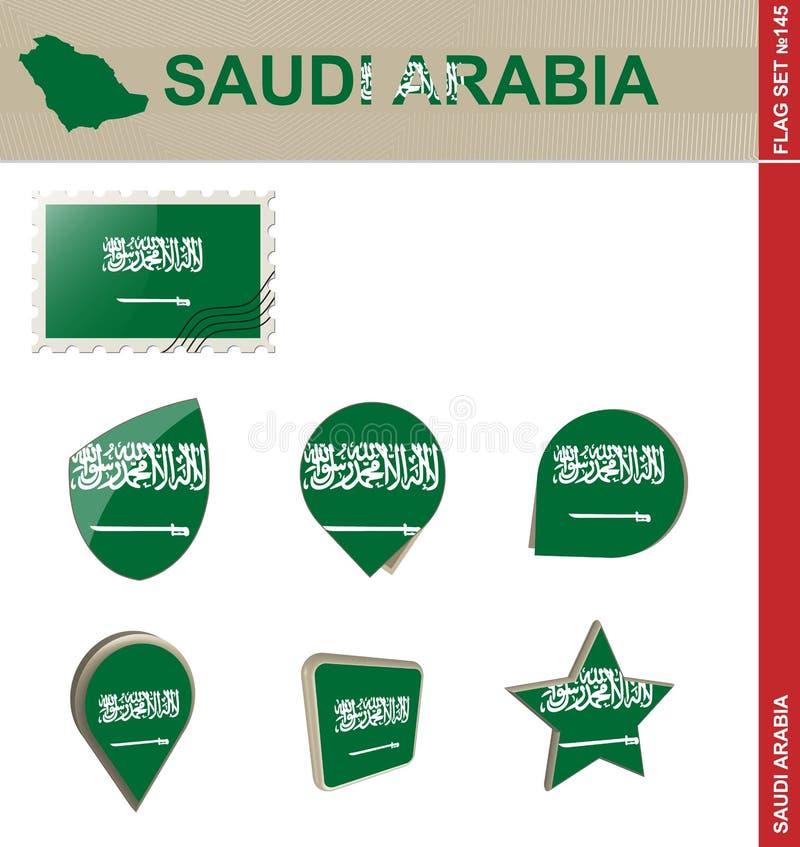 Saudi Arabia Flag Set, Flag Set #145 vector illustration