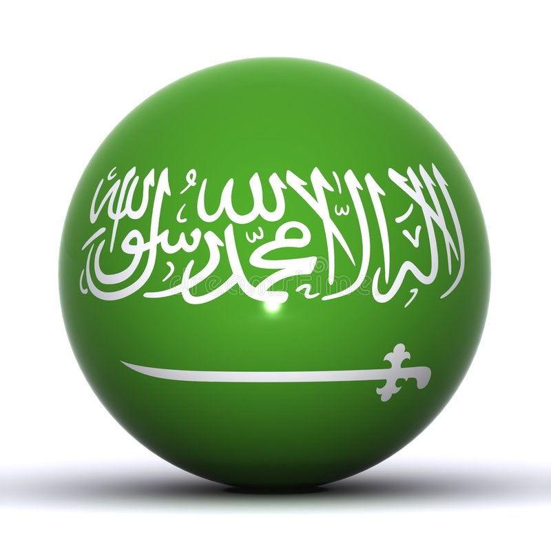 Download Saudi Arabia Globe stock illustration. Image of patriot - 7580926