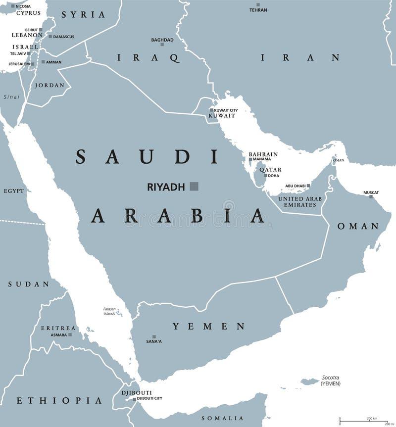 download saudi arabia political map stock vector illustration of jordan 95641993