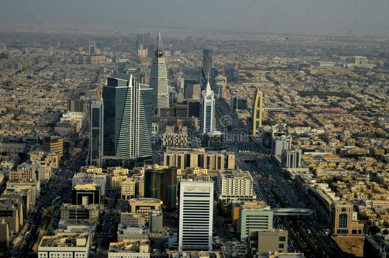 Saudi Arabia. Riyadh. The view from the top. City panorama. stock photos