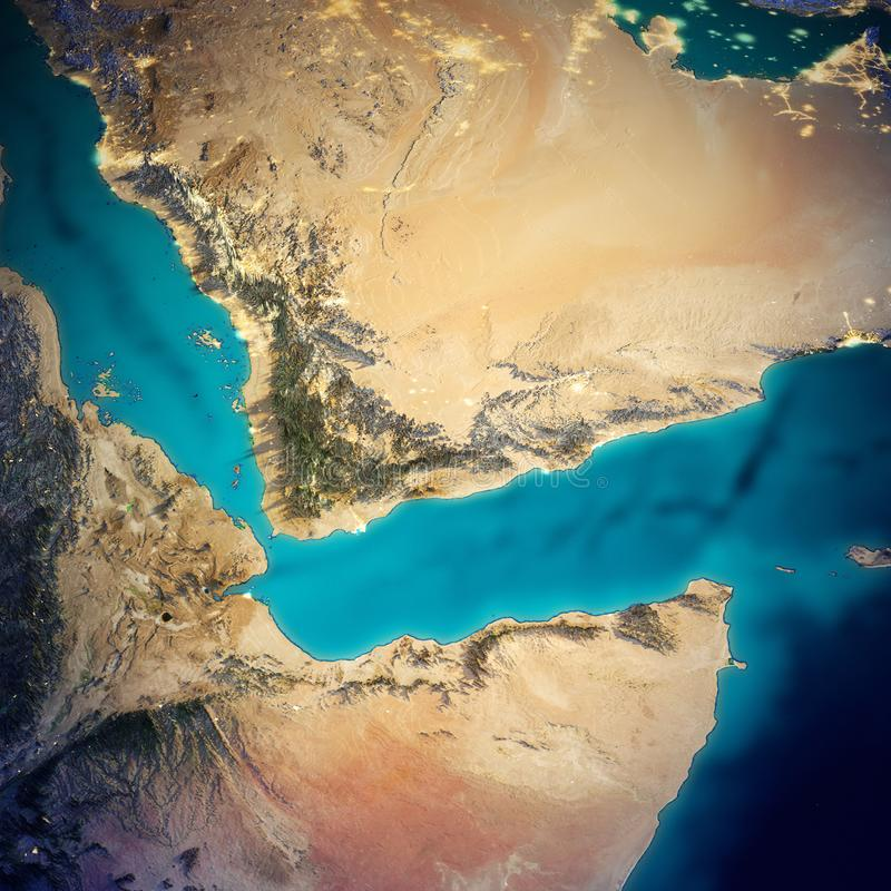 Saudi Arabia and Somalia map royalty free illustration