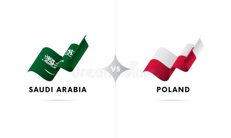 Saudi Arabia versus Poland. Football. Vector illustration. vector illustration