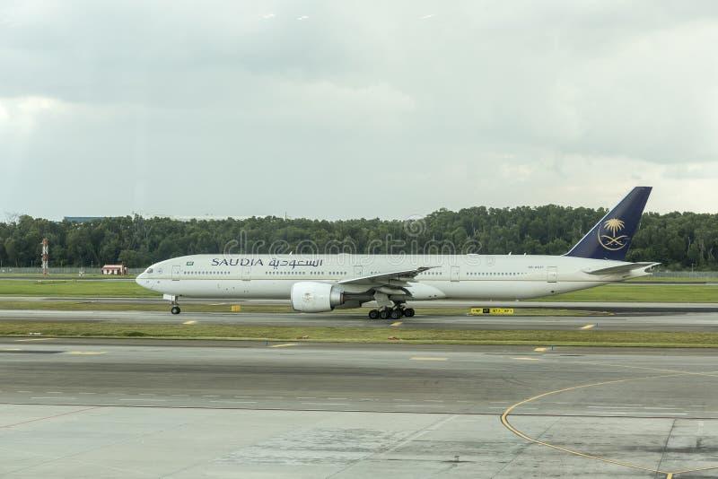 Saudi Arabian Airlines fotografía de archivo
