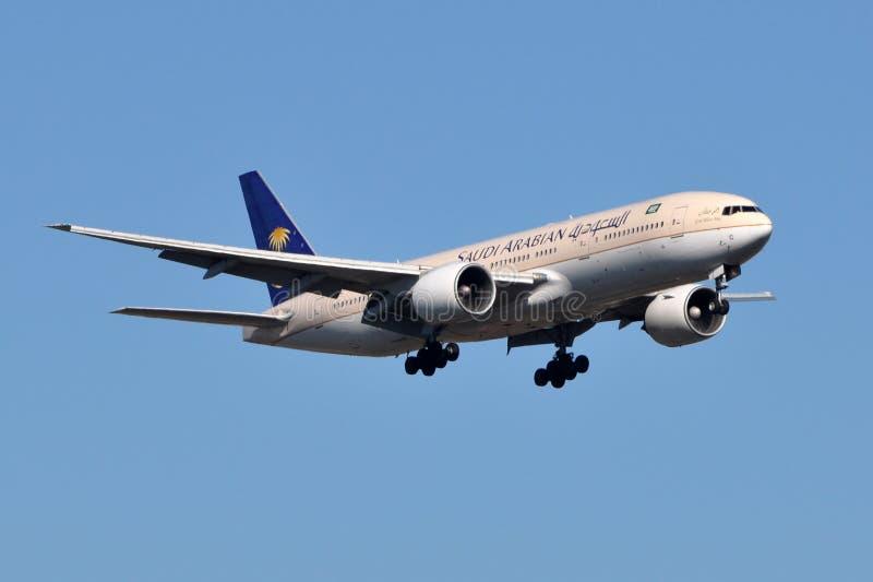 Saudi Arabian Airlines Boeing 777 royalty free stock image
