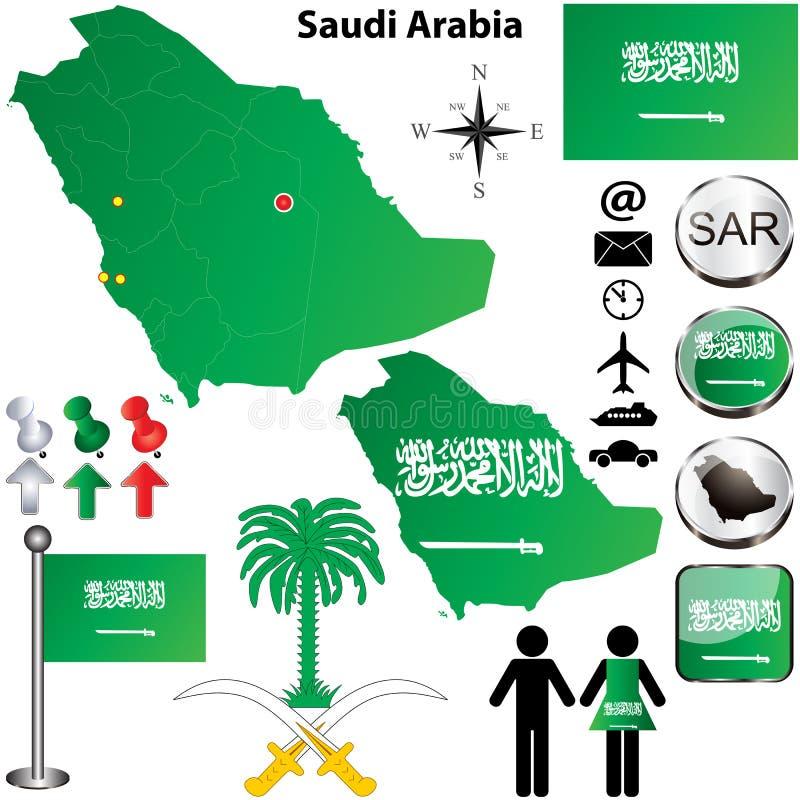 Saudi-Arabien Karte vektor abbildung