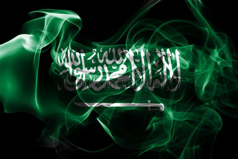 Saudi-Arabien nationale Rauchflagge lizenzfreie stockfotos