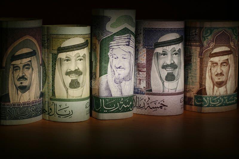 Saudi-arabische Bargeld-Anmerkungen lizenzfreie stockfotografie