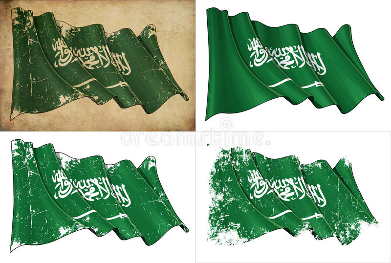 Saudi-arabische Markierungsfahne lizenzfreie abbildung
