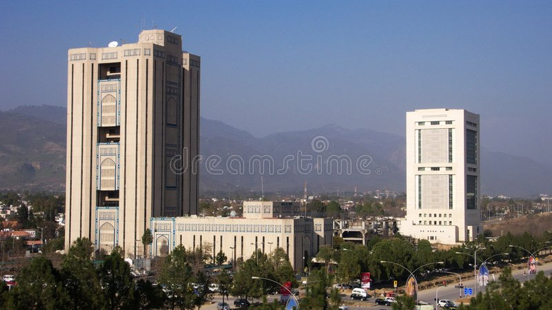 Saudi-Pak Tower Royalty Free Stock Photography