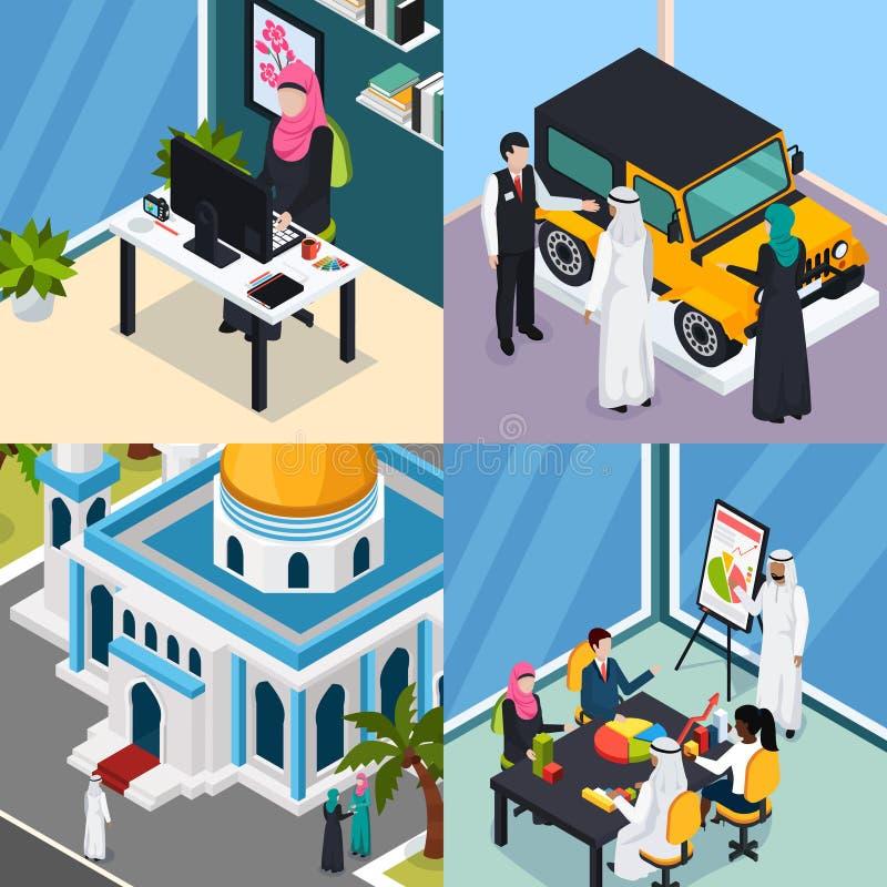 Arab Muslims Saudi People Concept royalty free illustration