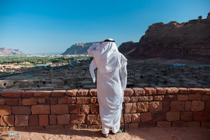 Saudian обозревая старый город Al Ula, Саудовской Аравии стоковая фотография rf