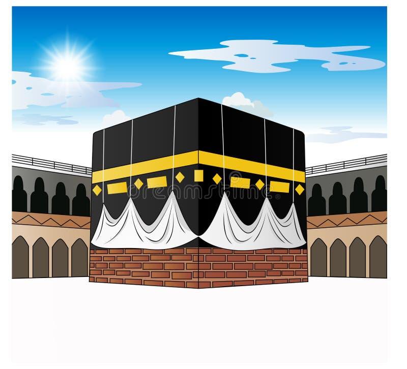 saudier för arabia kaabaMecka stock illustrationer